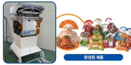 부채꼴 결속 포장기기 (Fan shape type binding machine)